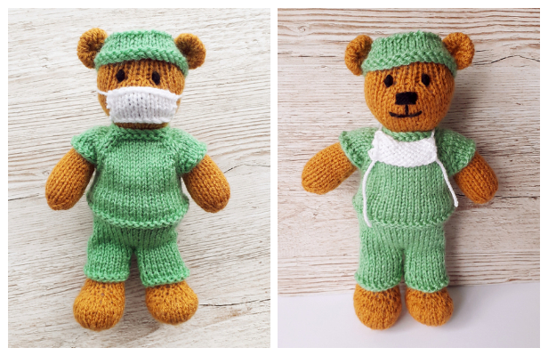 Knit Pocket Wolf Amigurumi (Free Knitting Pattern) - Sweet Softies ... | 400x616