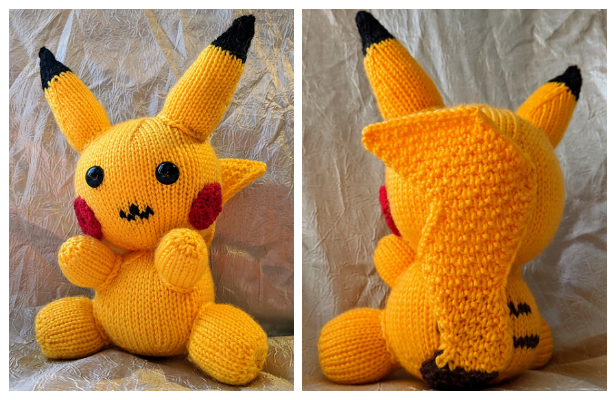 Crochet Pikachu Pokemon Pattern Pokeball Crochet Pattern | Etsy | 400x616