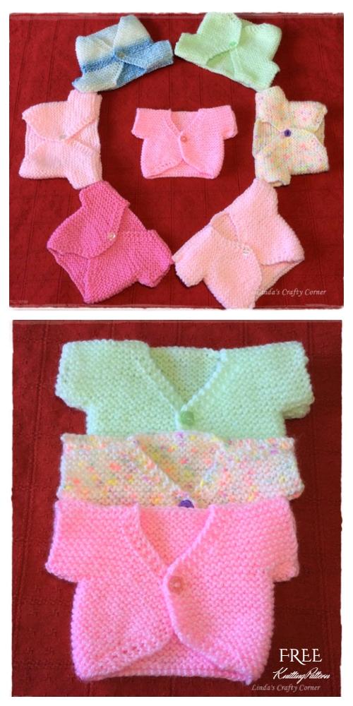 Easiest Little Baby Cardigan Free Knitting Pattern