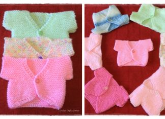 Easiest Little Baby Cardigan Free Knitting Pattern