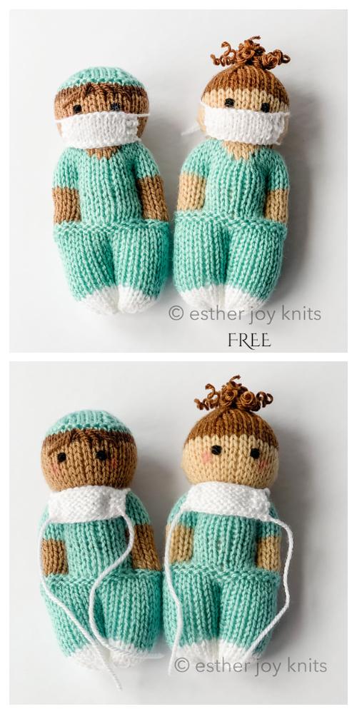Amigurumi Crochet pattern miniature Frontline Doctor or Nurse ... | 1000x500