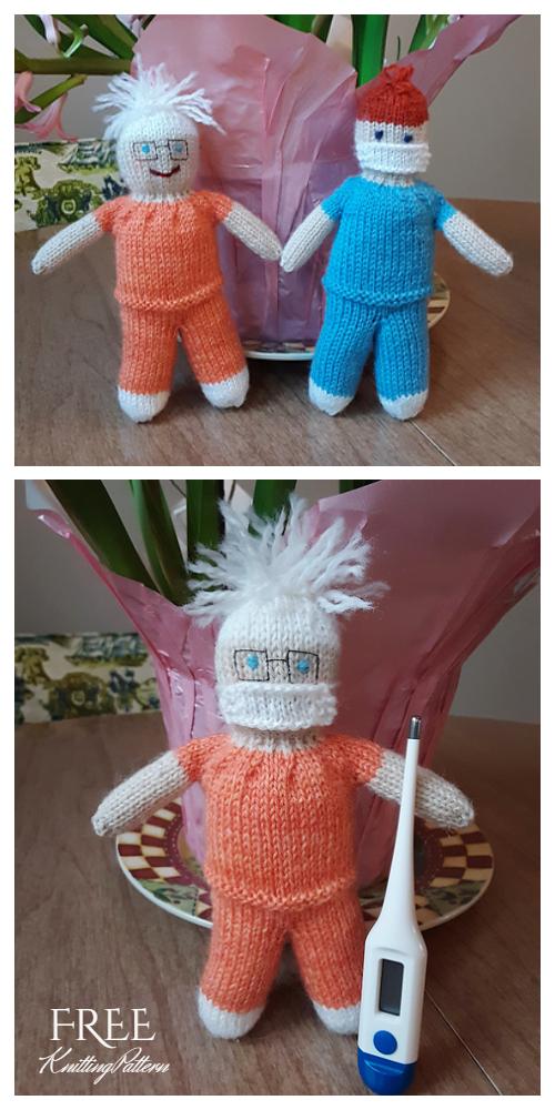 Easy Knit Friendly Nurse Doll Free Knitting Patterns