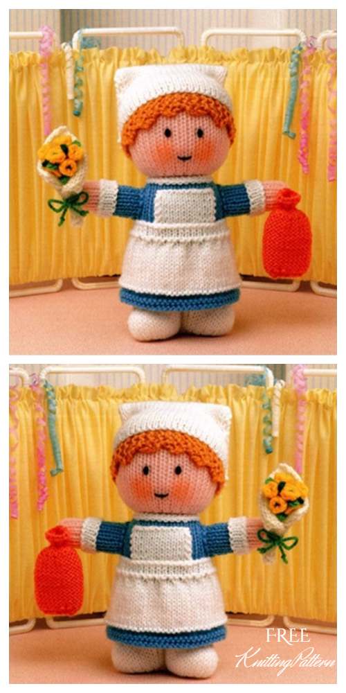 Easy Knit Nurse Doll Free Knitting Patterns