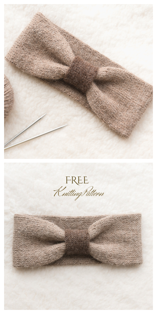 Easy Knit Uplands Headband Free Knitting Patterns