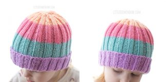 Easy Ribbed Baby Hat Free Knitting Pattern