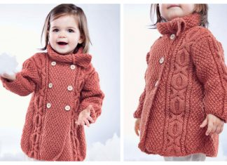 Knit Baby Cable Coat Free Knitting Pattern