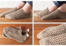 Knit Bunny Hop Anklets Slippers Free Knitting Pattern