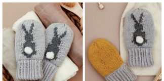 Knit Bunny Mittens Free Knitting Pattern