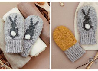 Knit Bunny Mittens Free Knitting Pattern