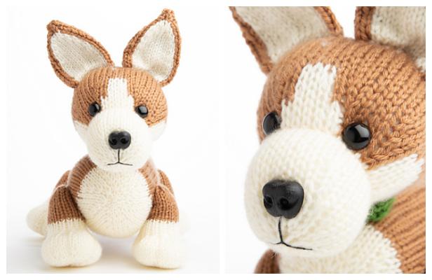 Knit Toy Corgi Puppy Free Knitting Pattern - Knitting Pattern