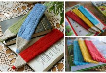 Knit Crayon Bookmark Free Knitting Pattern