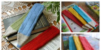Knit Crayon Bookmark Free Knitting Pattern