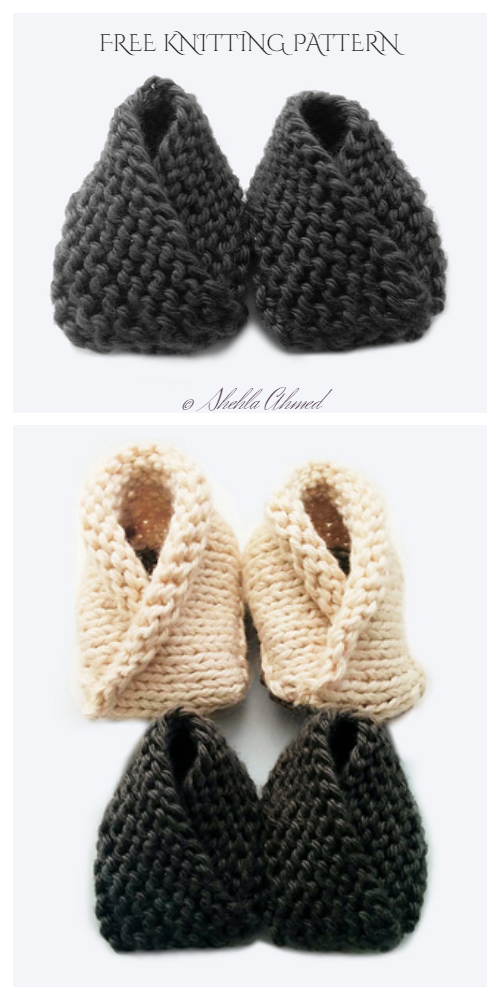 Knit Crossover Baby Booties Free Knitting Patterns