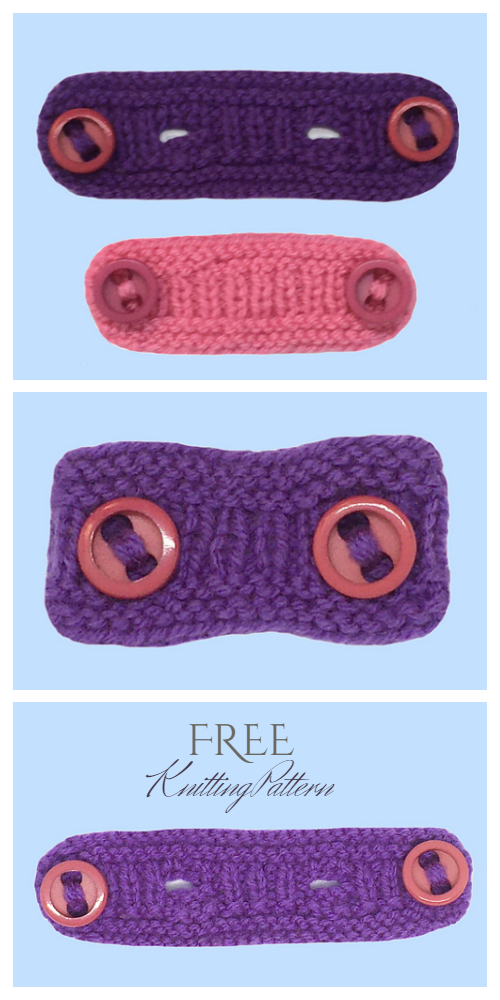 Knit Adjustable Mask Extender Ear Savers Free Knitting Patterns