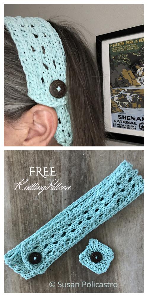 Knit Ear Savers Headband Free Knitting Patterns