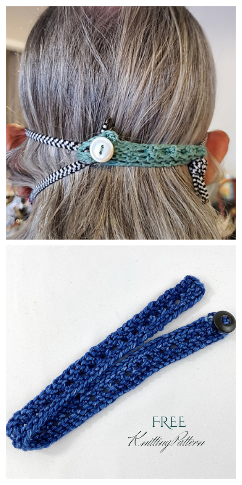Knit Adjustable Face Mask Ear Savers Free Knitting Patterns