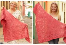 Knit Heart Lace Shawl Free Knitting Pattern