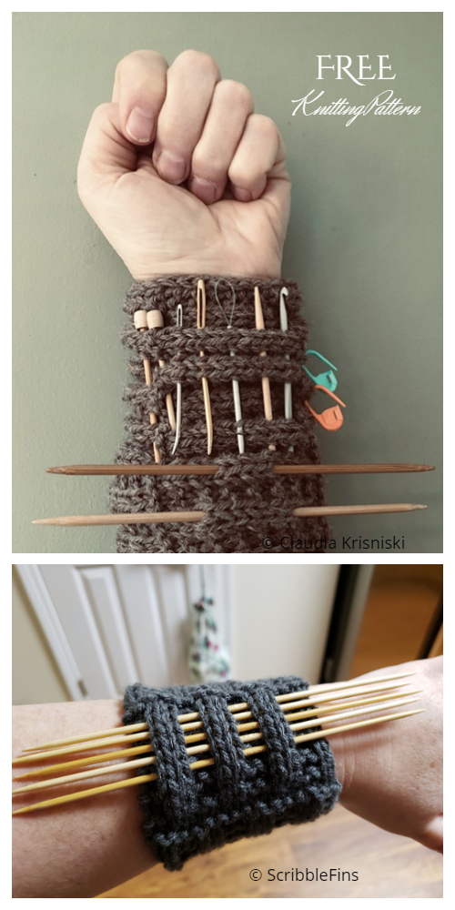 Knit Knitter's Pandemic Wrister Free Knitting Pattern