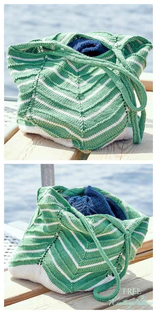 Knit Lotus Bag Free Knitting Pattern