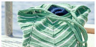 Knit Lotus Bag Free Knitting Pattern