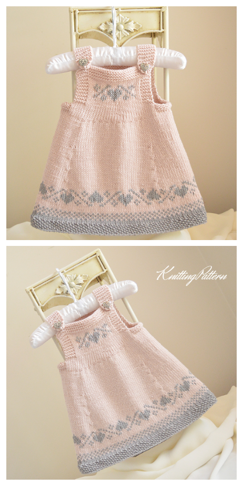 Knit Luv U Forever Pinafore Dress Knitting Pattern