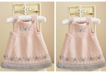 Knit Luv U Forever Baby Pinafore Dress Knitting Pattern