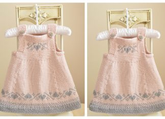 Knit Luv U Forever Baby Pinafore Dress Knitting Pattern