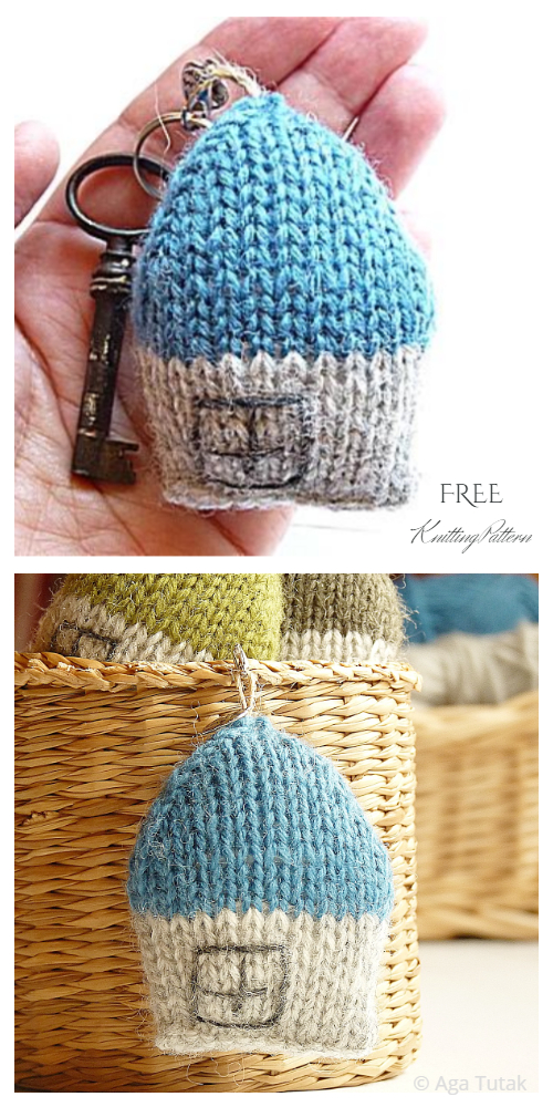Knit Miniature House Toy Free Knitting Patterns - Knitting ...