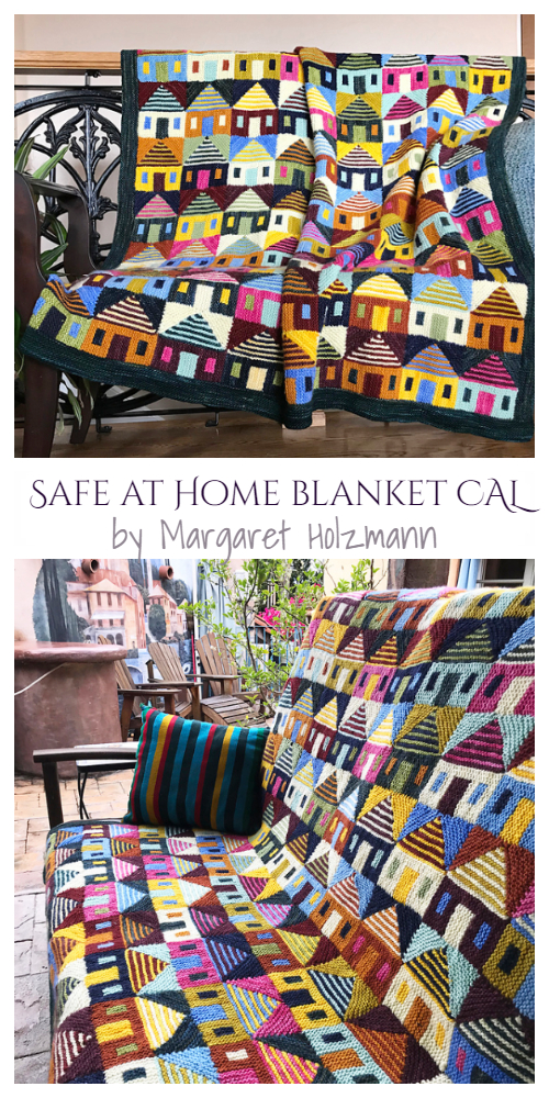 Knit Safe at Home Blanket Knitting Pattern