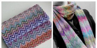 Knit Scrappy ZickZack Scarf Free Knitting Pattern