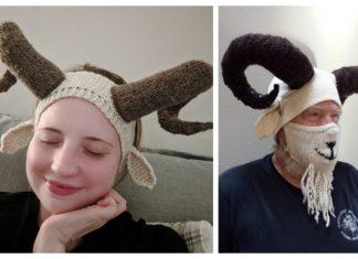 Knit Silly Billy Goat Ear Warmers Free Knitting Pattern