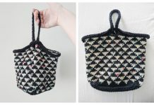 Knit Triangle Bottom Project Bag Free Knitting Pattern
