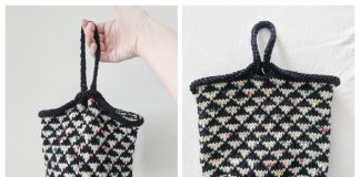 Knit Triangle Bottom Project Bag Free Knitting Pattern