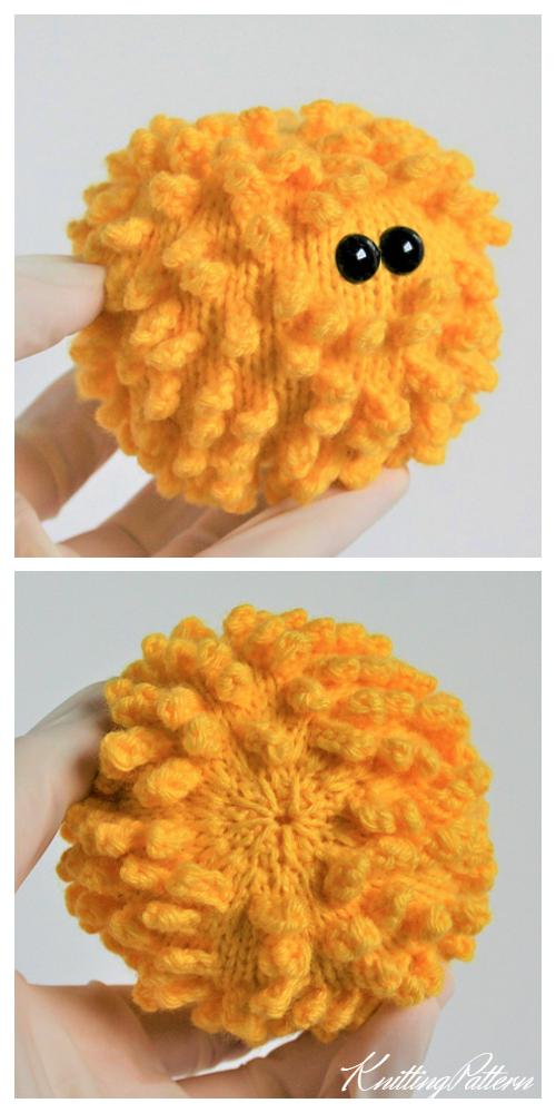 Knit Virus Ball Free Knitting Pattern & Paid