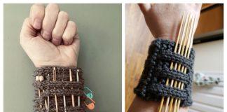 Knit Knitter's Pandemic Wrister Free Knitting Pattern