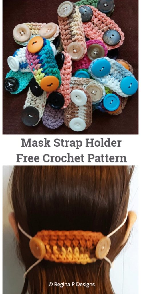 Mask Strap Holder Free Crochet Patterns
