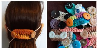 Mask Strap Holder Free Crochet Patterns