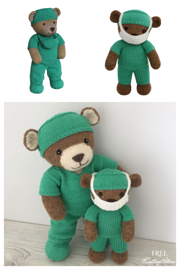 Amigurumi Thank You Teddy Bear Free Knitting Pattern