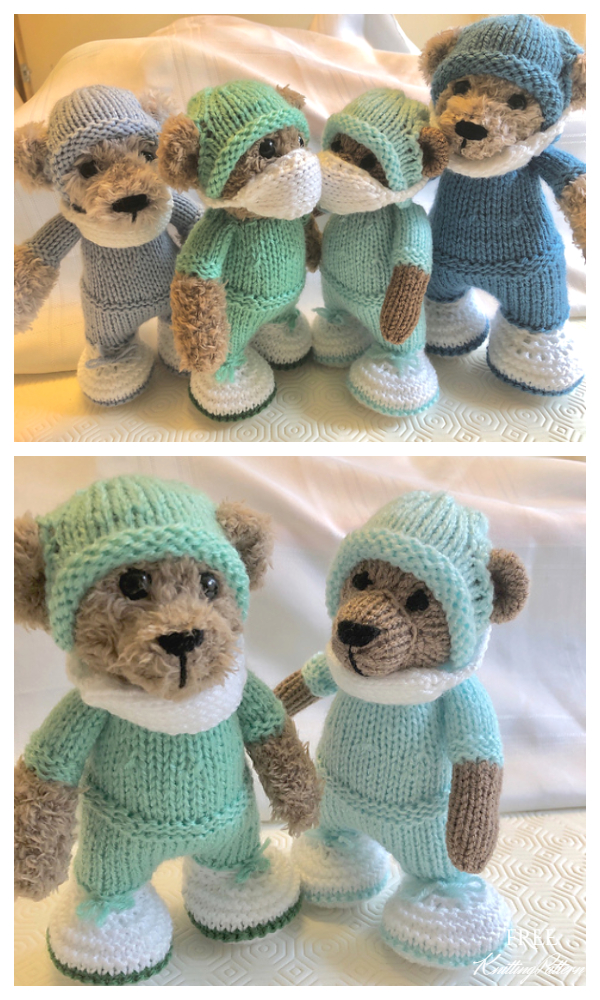 Amigurumi Little Hero Bear Free Knitting Pattern