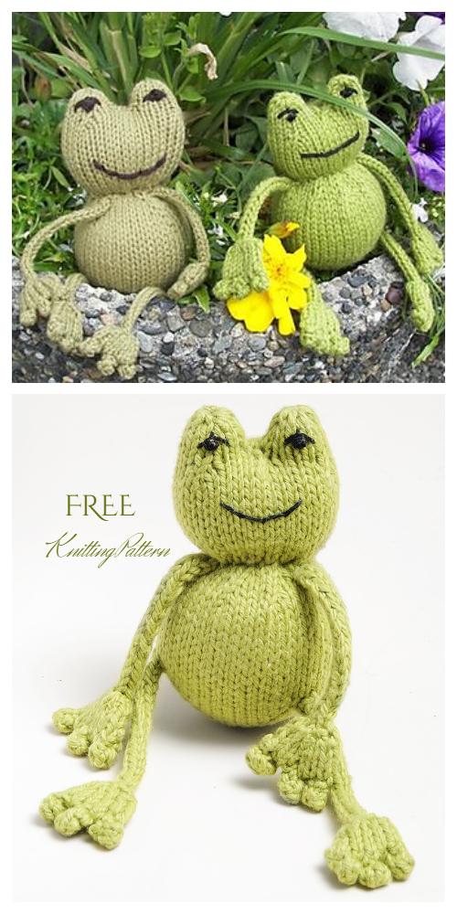 Amigurumi Toy Frog Free Knitting Pattern - Knitting Pattern