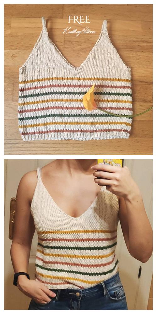 Knit Summer Crop Top Free Knitting Patterns Knitting Pattern