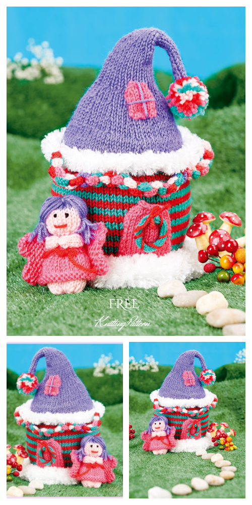 Knit Fairy House Free Knitting Patterns