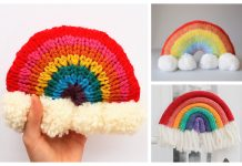 Knit Rainbow Wall Hanging Free Knitting Patterns
