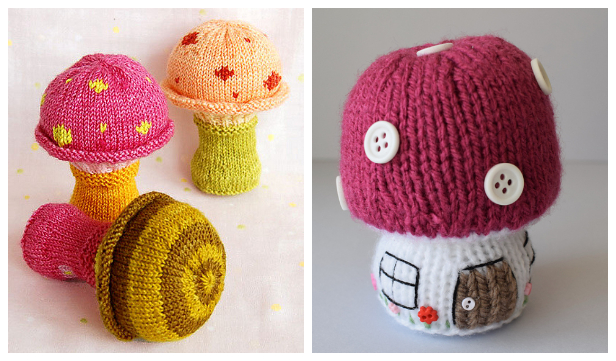 Amigurumi Crochet Mushroom Softies Free Patterns & Paid | 361x616