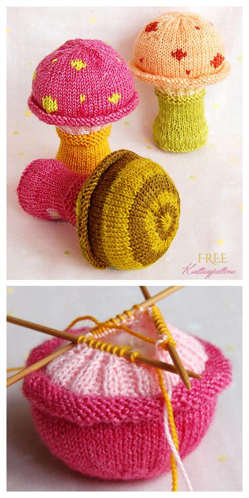 Mushroom keychain pattern free crochet ⋆ Crochet Kingdom   1000x500