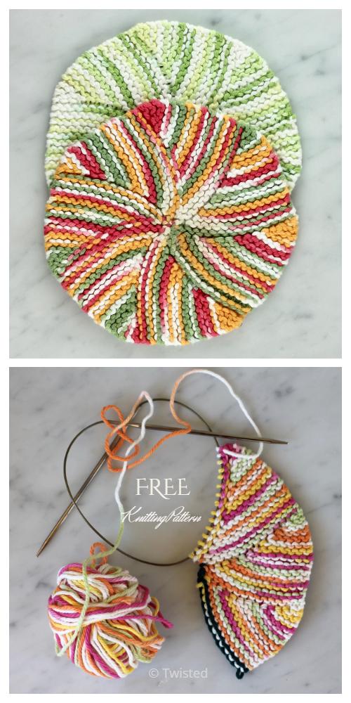 Easy as Pie Dishcloth Free Knitting Pattern