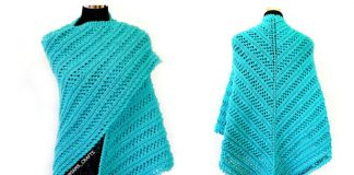 Knit Aqua Tides Lace Shawl Free Knitting Pattern