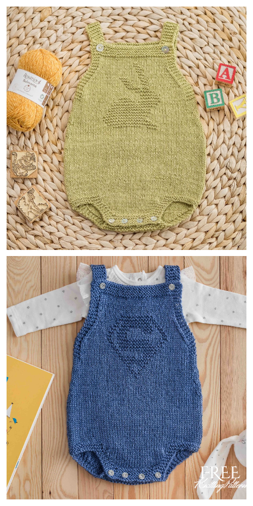 Knit Baby Fofo Onesies Free Knitting Patterns