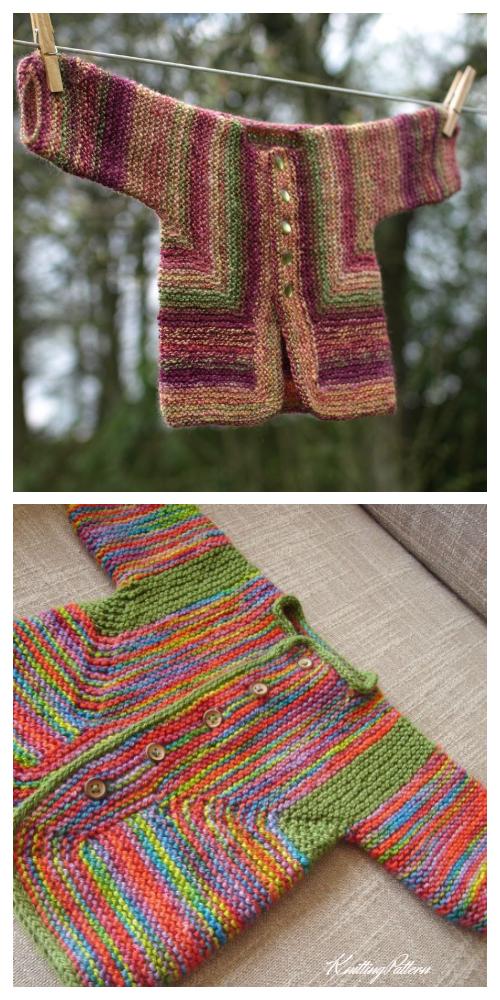Knit Baby Surprise Jacket Knitting Pattern