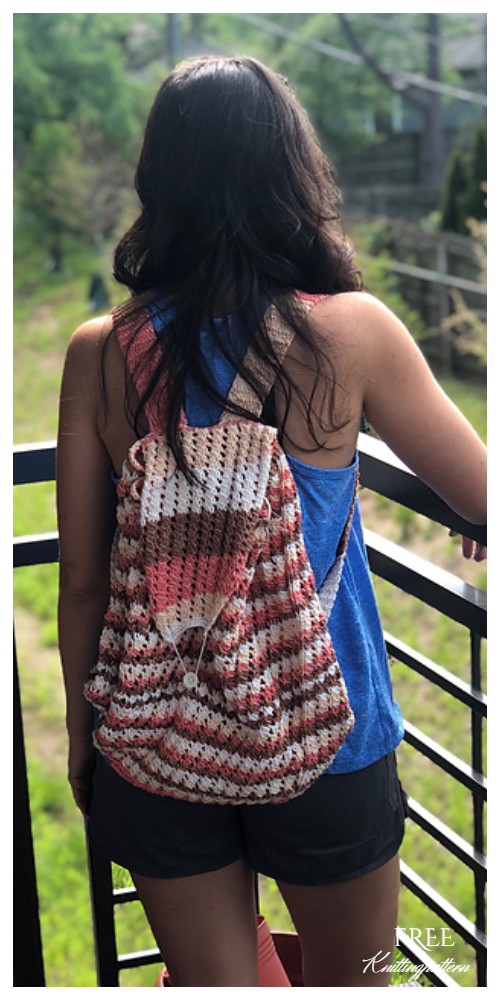 Lace Knit Backpack Free Knitting Pattern